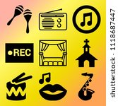 vector icon set  about music... | Shutterstock .eps vector #1118687447