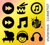vector icon set  about music... | Shutterstock .eps vector #1118687537