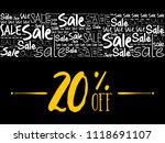 20  off sale word cloud collage ... | Shutterstock .eps vector #1118691107