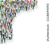 large group of people  crowd... | Shutterstock .eps vector #1118694593