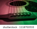 close up acoustic guitar  multi ... | Shutterstock . vector #1118703533