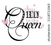 stylish trendy slogan tee t... | Shutterstock .eps vector #1118711063