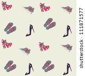 vector shoe pattern