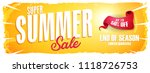 summer sale extra wide banner ... | Shutterstock .eps vector #1118726753