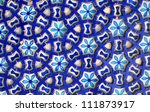 hand made blue pottery work at ... | Shutterstock . vector #111873917