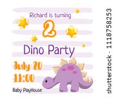 kid birthday invitation... | Shutterstock .eps vector #1118758253