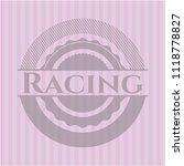 racing retro style pink emblem | Shutterstock .eps vector #1118778827