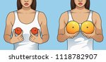 woman holding tangerines and... | Shutterstock .eps vector #1118782907