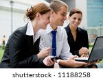 three business people looking... | Shutterstock . vector #11188258
