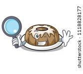 detective bundt cake character... | Shutterstock .eps vector #1118828177