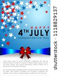 abstract happy 4th of july ... | Shutterstock .eps vector #1118829137