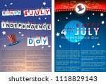 abstract happy 4th of july ... | Shutterstock .eps vector #1118829143