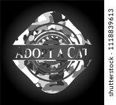 adopt a cat grey camo emblem | Shutterstock .eps vector #1118839613