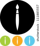 artist's brush   vector icon... | Shutterstock .eps vector #111885557