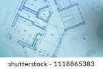 vector architectural plan  ... | Shutterstock .eps vector #1118865383