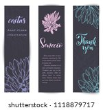 set of banners with hand drawn... | Shutterstock .eps vector #1118879717