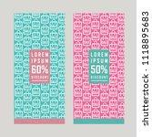 summer sale banner . template... | Shutterstock .eps vector #1118895683