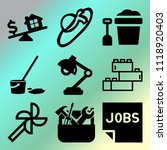 vector icon set  about home... | Shutterstock .eps vector #1118920403