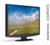 tv on white background.... | Shutterstock . vector #111892373