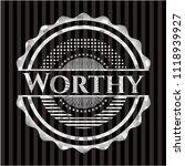 worthy silver badge or emblem | Shutterstock .eps vector #1118939927