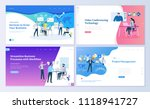 set of web page design... | Shutterstock .eps vector #1118941727