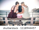 happy gay couple spending time... | Shutterstock . vector #1118944457