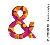 orange yellow magenta and... | Shutterstock .eps vector #1118961323