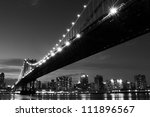 Manhattan Bridge And Skyline A...