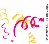 colorful star ribbon confetti.... | Shutterstock .eps vector #1118993087
