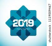happy new year 2019 text design ... | Shutterstock .eps vector #1119009467