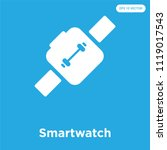 smartwatch vector icon isolated ... | Shutterstock .eps vector #1119017543