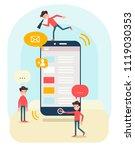 business concept illustration ... | Shutterstock .eps vector #1119030353