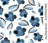 floral seamless pattern. vector ...   Shutterstock .eps vector #1119042983