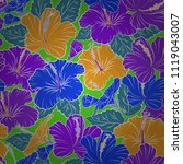 bright beautiful hibiscus...   Shutterstock .eps vector #1119043007