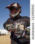 Постер, плакат: Motocross Racer ready to