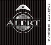alert silver shiny badge | Shutterstock .eps vector #1119055433
