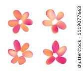 flowers in gradient mesh ...   Shutterstock .eps vector #1119077663