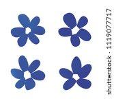 flowers in gradient mesh ...   Shutterstock .eps vector #1119077717