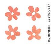flowers in gradient mesh ...   Shutterstock .eps vector #1119077867