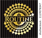 routine gold shiny badge | Shutterstock .eps vector #1119078347