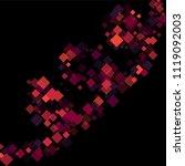 rhombus print minimal geometric ... | Shutterstock .eps vector #1119092003