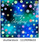 merry christmas illustration... | Shutterstock .eps vector #1119098633