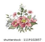 spring flowers. bouquet of...   Shutterstock .eps vector #1119102857