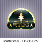 gold shiny emblem with... | Shutterstock .eps vector #1119119297