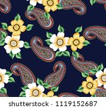 stock flowers with paisley...   Shutterstock .eps vector #1119152687