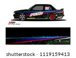 car livery graphic vector.... | Shutterstock .eps vector #1119159413