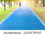 elderly people motion running...   Shutterstock . vector #1119179747