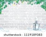 vector christmas greeting card  ... | Shutterstock .eps vector #1119189383