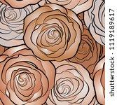 vector beige  orange and brown...   Shutterstock .eps vector #1119189617