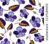vintage seamless pattern in...   Shutterstock .eps vector #1119189653